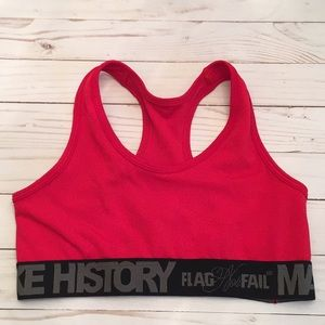 9f734e57bc Flag nor Fail Making History Red Sports Bra Sz MD